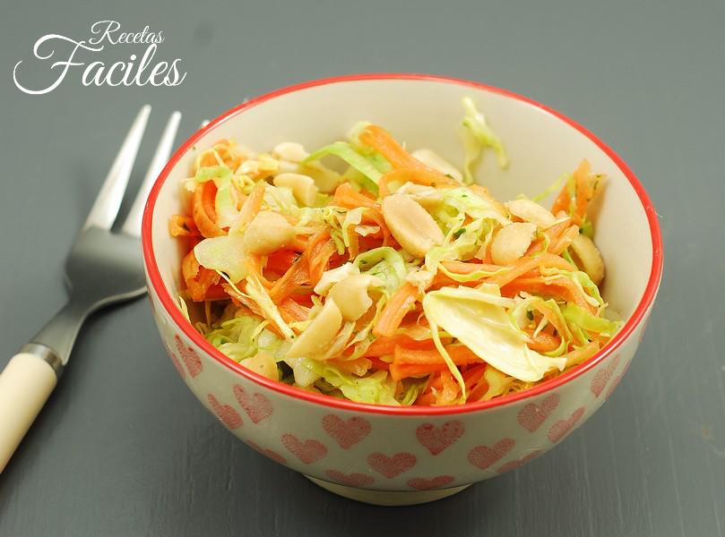 Ensalada asiática de zanahoria