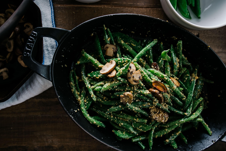 receta de ensalada de frijoles mostaza y miso de sésamo - www.iamafoodblog.com