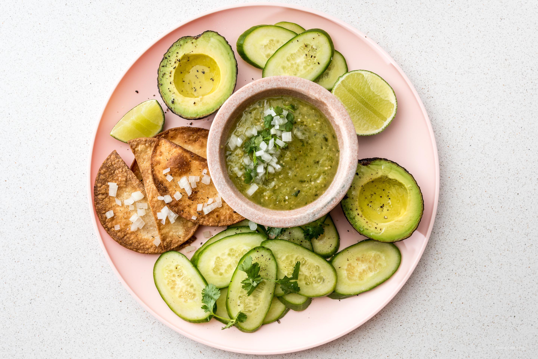 Easy Salsa Chile Hatch 4 ingredientes fáciles  www.iamafoodblog.com