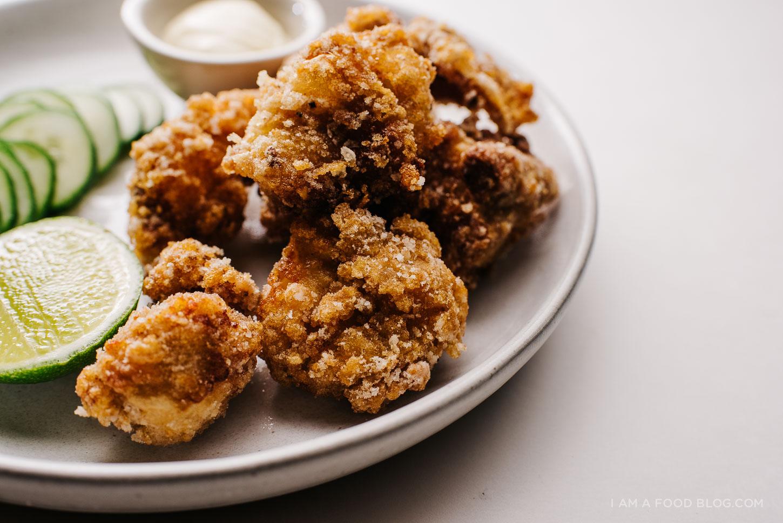 Receta japonesa de karaage de pollo frito - www.iamafoodblog.com