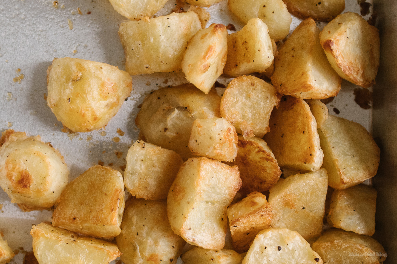 Patatas crujientes asadas al horno
