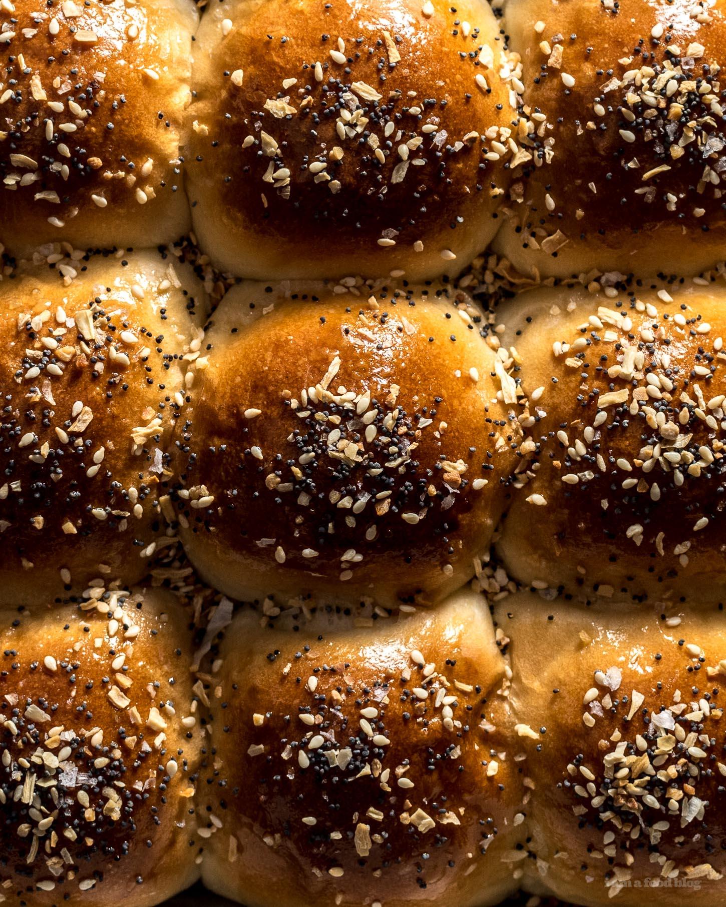 Rollos de cena de bagel  www.iamafoodblog.com