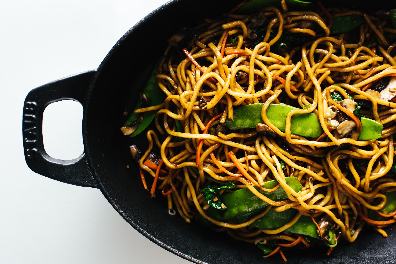 La receta de Real Lo Mein - www.iamafoodblog.com